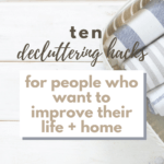 How To Declutter Your Life And Home - Pinterest pin with towels